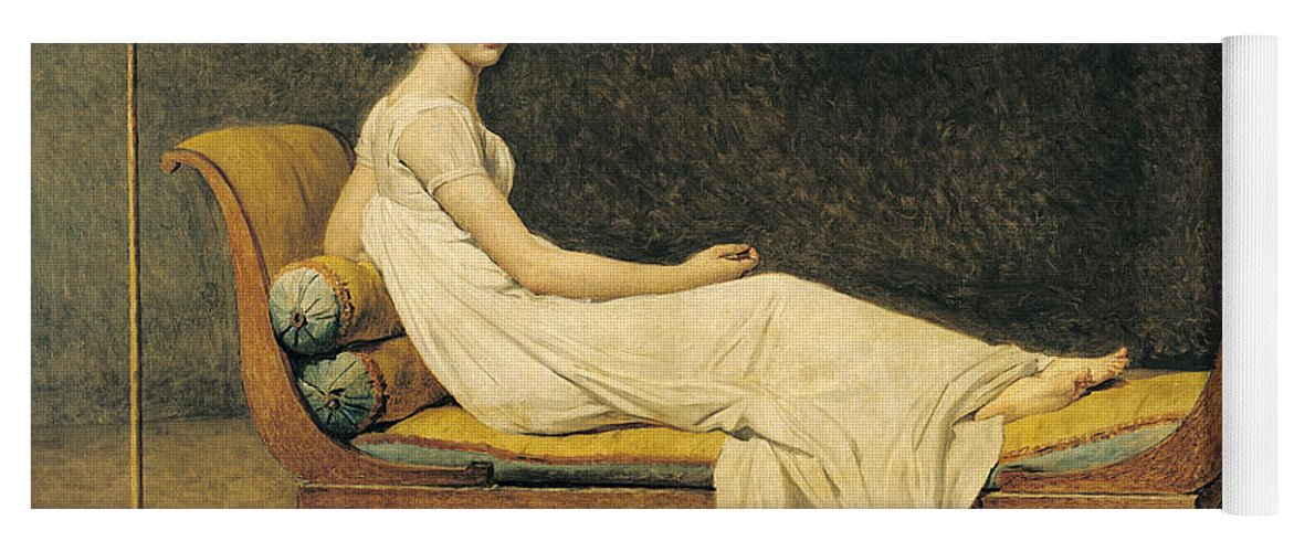 Portrait Yoga Mat featuring the painting Madame Recamier by Jacques Louis David