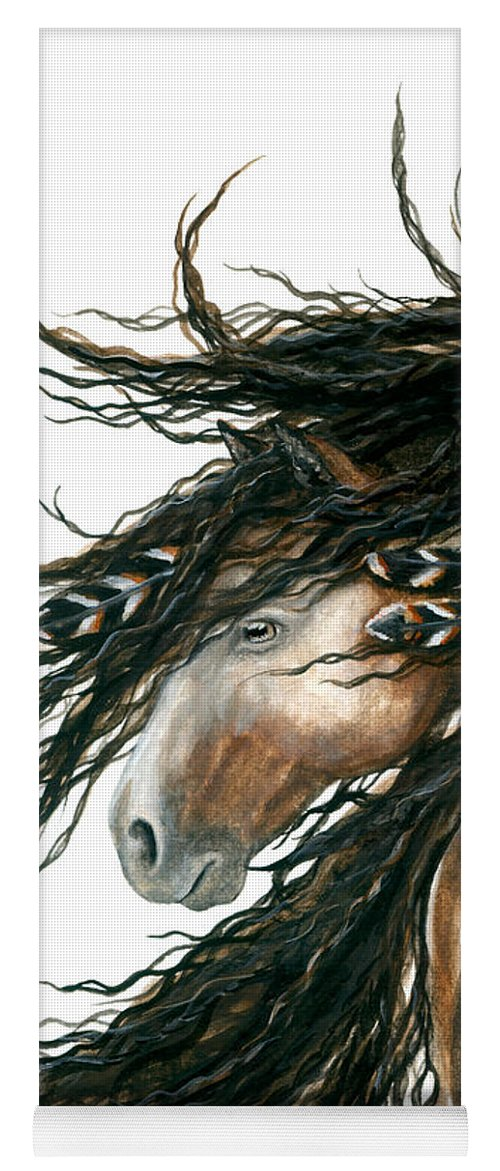 Horse Yoga Mat featuring the painting Majestic Pinto Horse 80 by AmyLyn Bihrle