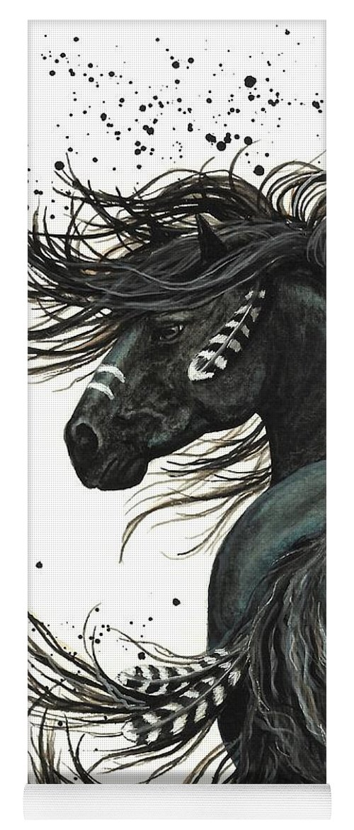 Mm65 Yoga Mat featuring the painting Majestic Spirit Horse I by AmyLyn Bihrle