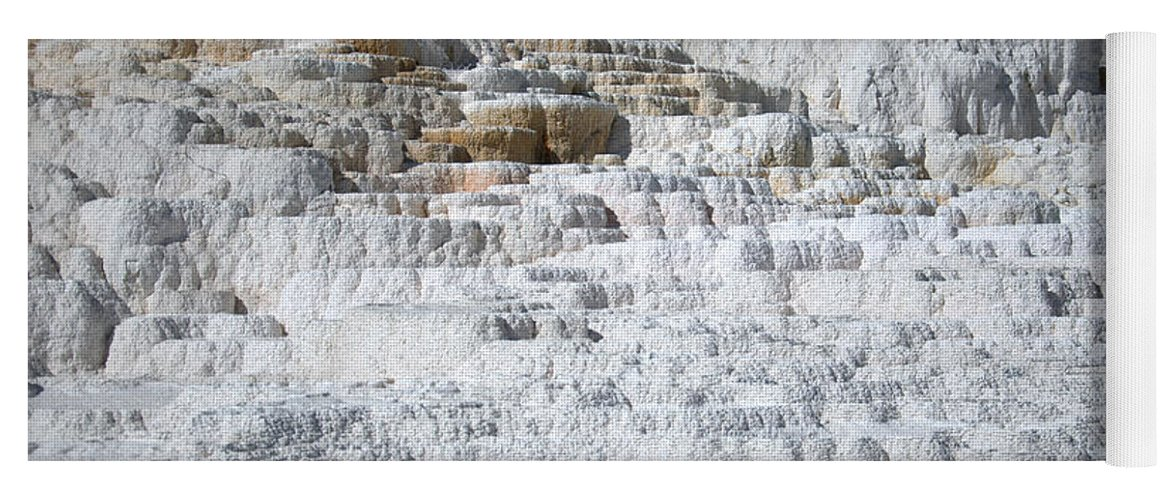 White Yoga Mat featuring the photograph Mammoth Hotsprings 3 by Frank Madia