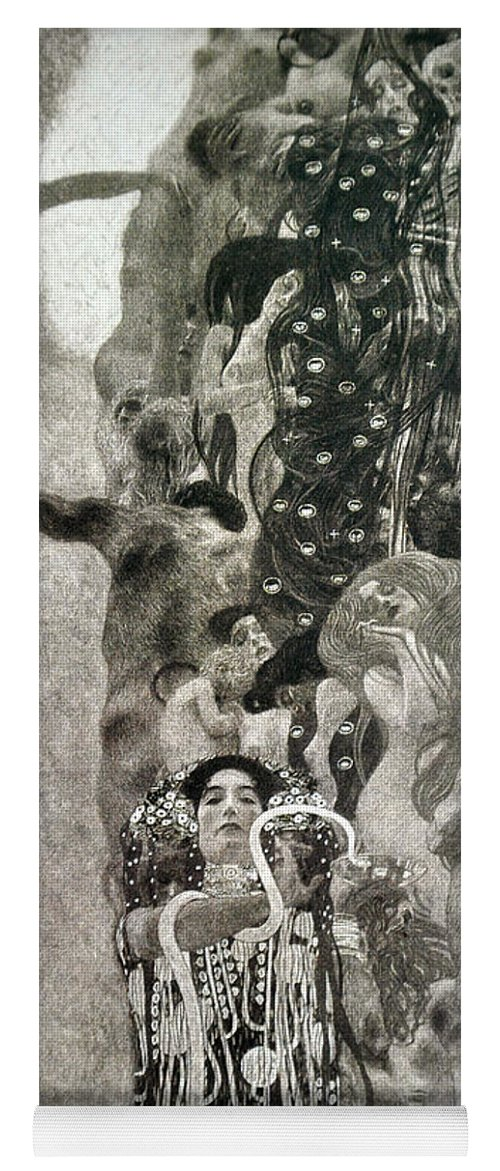 Gustav Klimt Yoga Mat featuring the painting Medicine by Gustav Klimt