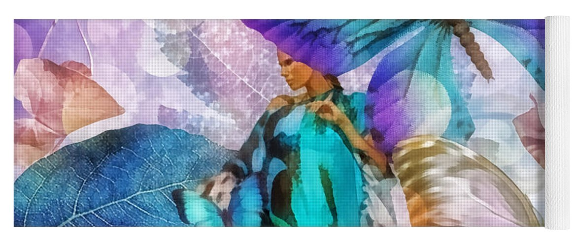 Metamorphosis Yoga Mat featuring the painting Metamorphosis by Mo T