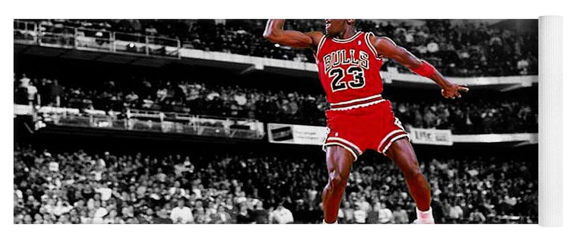 Michael Jordan Slam Dunk Contest Yoga Mat for Sale by Brian Reaves 58e4f44916