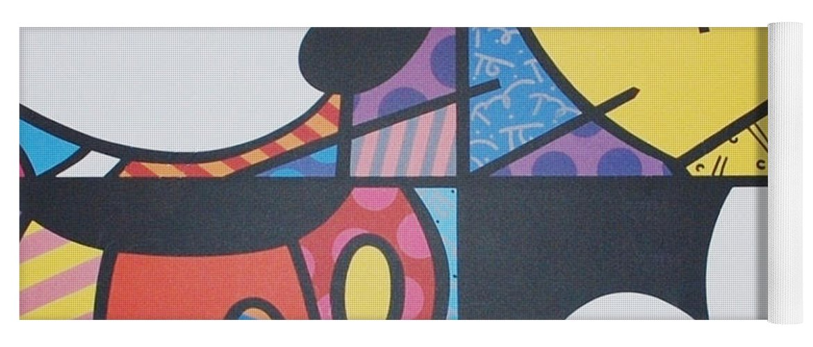 Mickey Mouse Yoga Mat featuring the photograph Mickey by Rob Hans