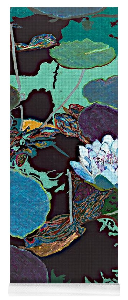 Landscape Yoga Mat featuring the painting Midnight Moonglow by Allan P Friedlander