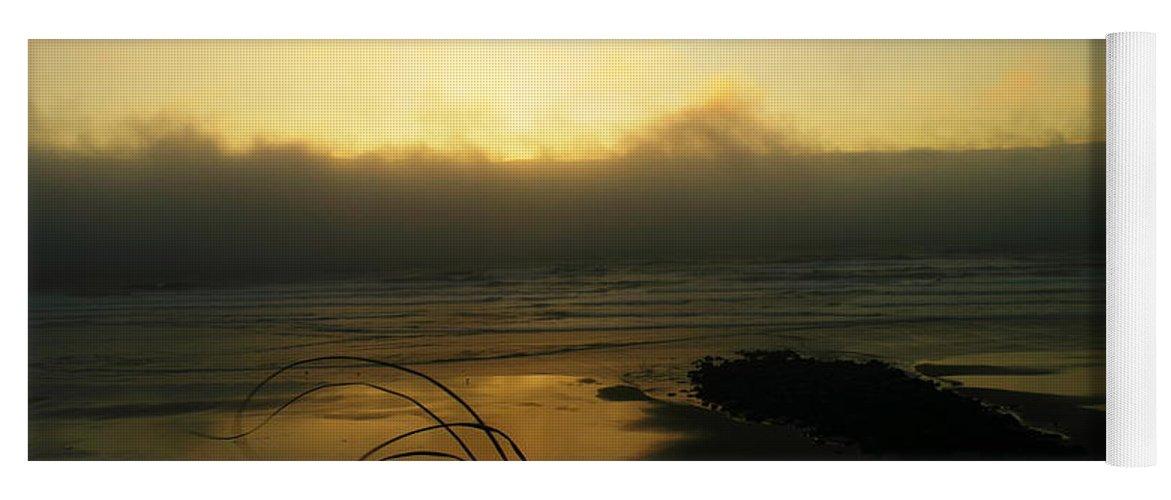 Ocean Yoga Mat featuring the photograph Misty Oregon Coast by Jeff Swan