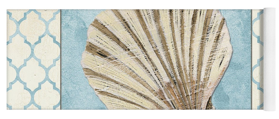 Shell Yoga Mat featuring the painting Moroccan Spa 1 by Debbie DeWitt