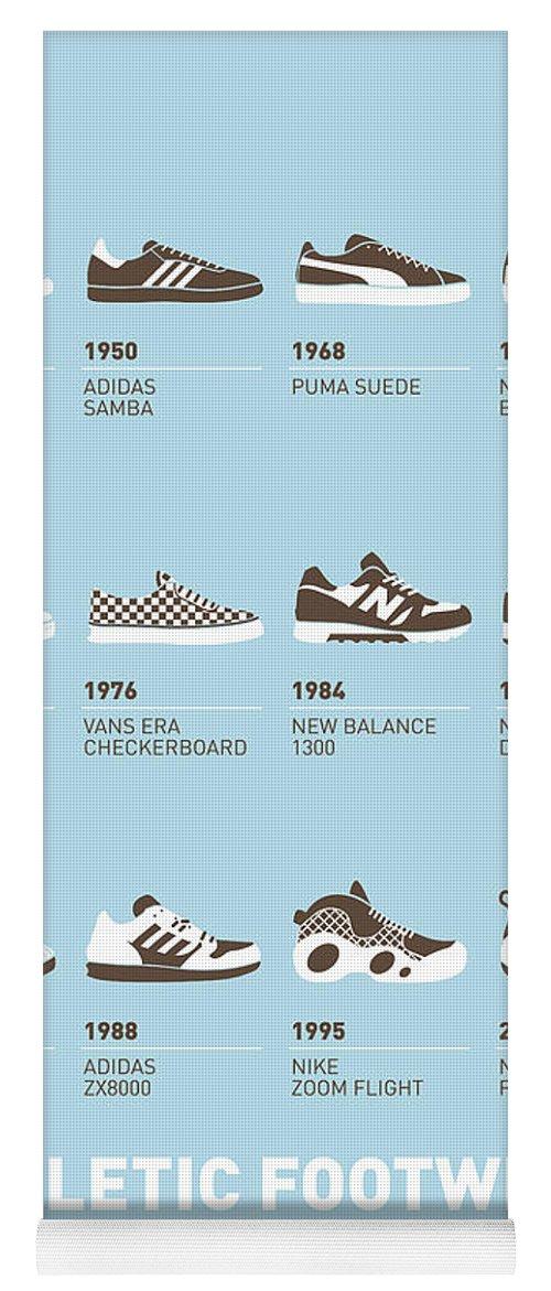 cd136f0b97cf Minimal Yoga Mat featuring the digital art My Evolution Sneaker Minimal  Poster by Chungkong Art