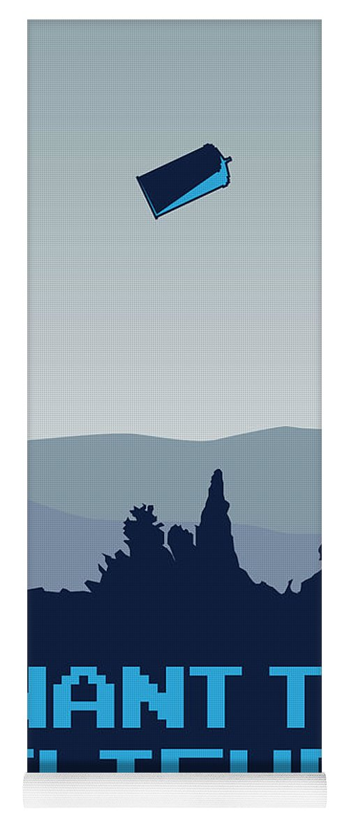 Classic Yoga Mat featuring the digital art My I Want To Believe Minimal Poster- Tardis by Chungkong Art