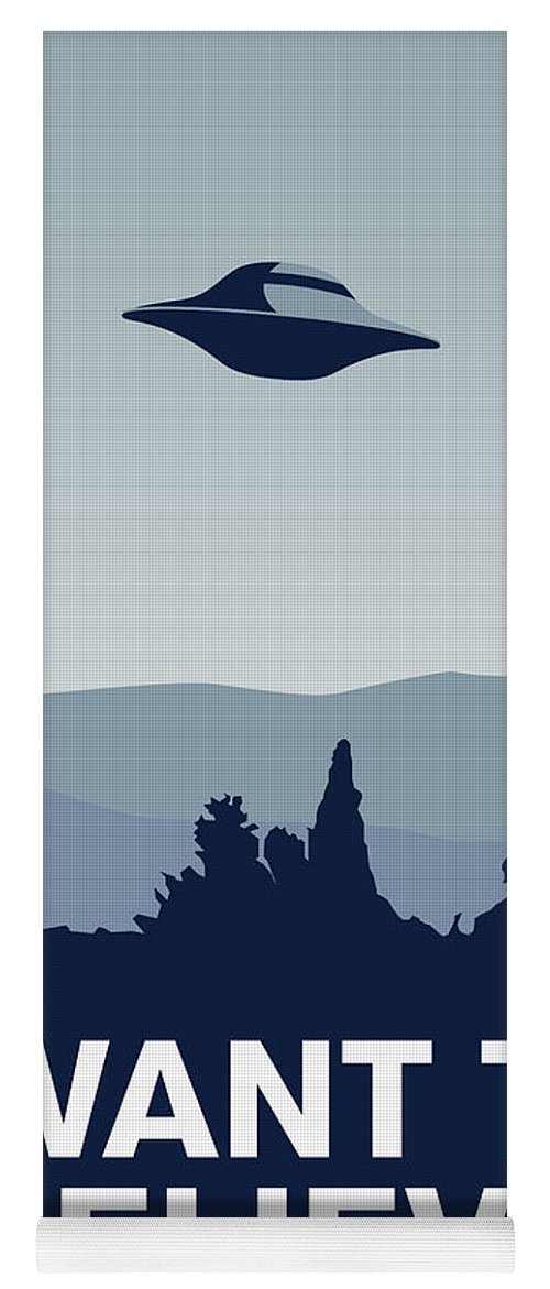 Classic Yoga Mat featuring the digital art My I Want To Believe Minimal Poster-xfiles by Chungkong Art