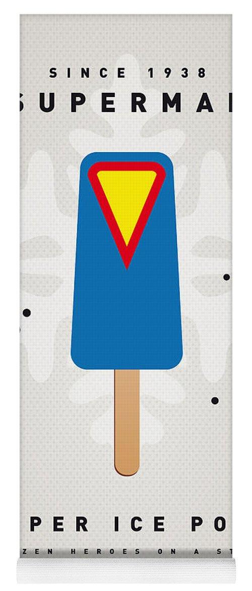 Superheroes Yoga Mat featuring the digital art My SUPERHERO ICE POP - Superman by Chungkong Art