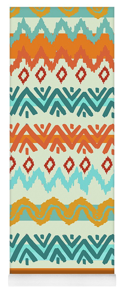 Navajo Yoga Mat featuring the digital art Southwest Pattern I by Nicholas Biscardi