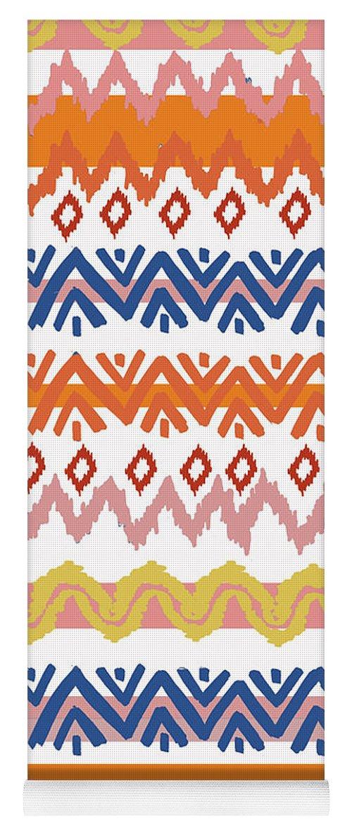 Navajo Yoga Mat featuring the digital art Southwest Pattern III by Nicholas Biscardi