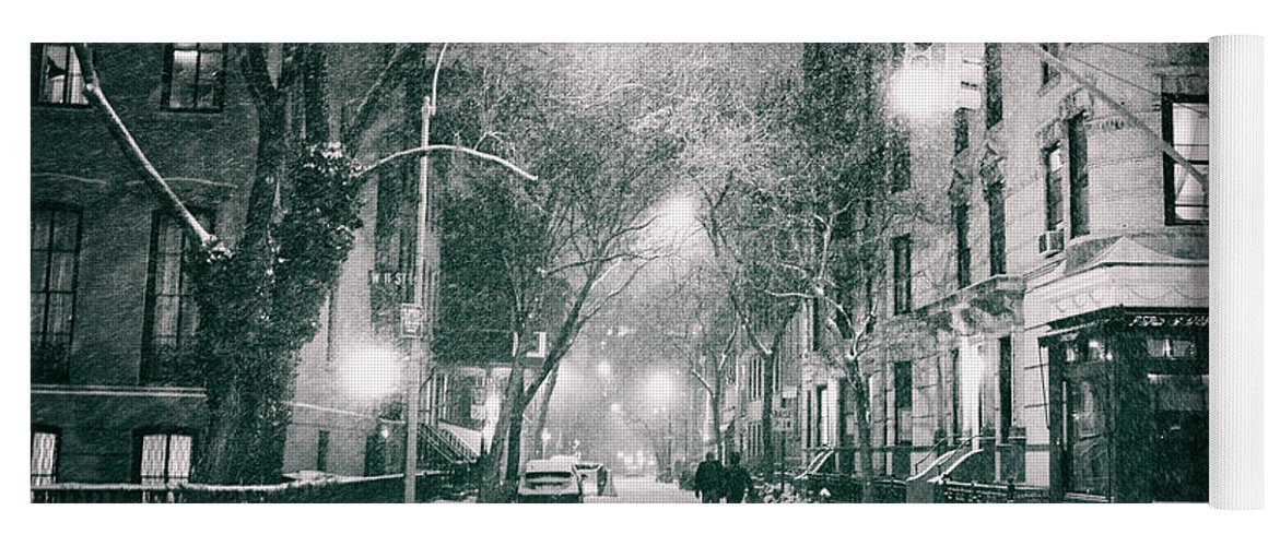 Nyc Yoga Mat featuring the photograph New York City - Winter Night In The West Village by Vivienne Gucwa