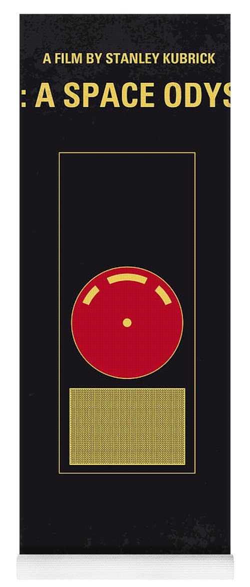 2001: A Space Odyssey Yoga Mat featuring the digital art No003 My 2001 A space odyssey 2000 minimal movie poster by Chungkong Art