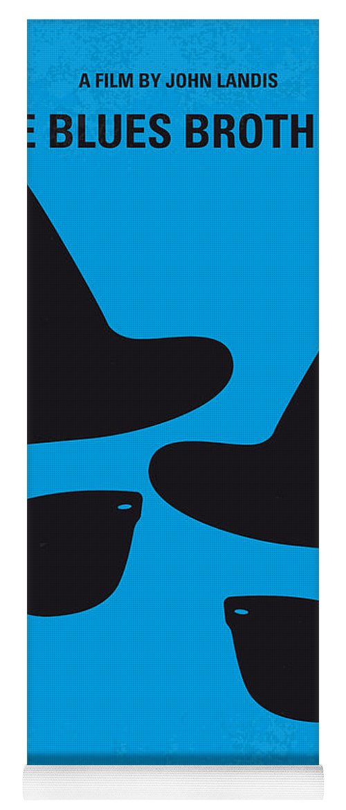 Blues Yoga Mat featuring the digital art No012 My blues brother minimal movie poster by Chungkong Art