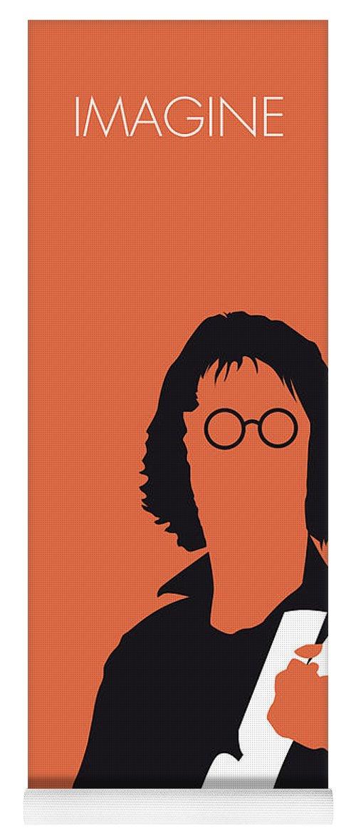 John Yoga Mat featuring the digital art No013 My John Lennon Minimal Music Poster by Chungkong Art