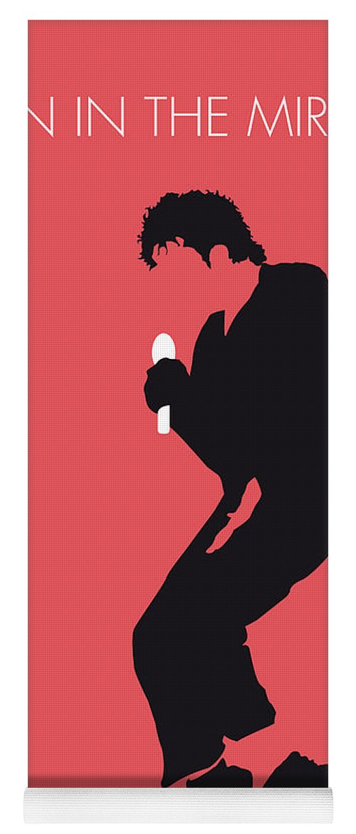Michael Yoga Mat featuring the digital art No032 My Michael Jackson Minimal Music Poster by Chungkong Art