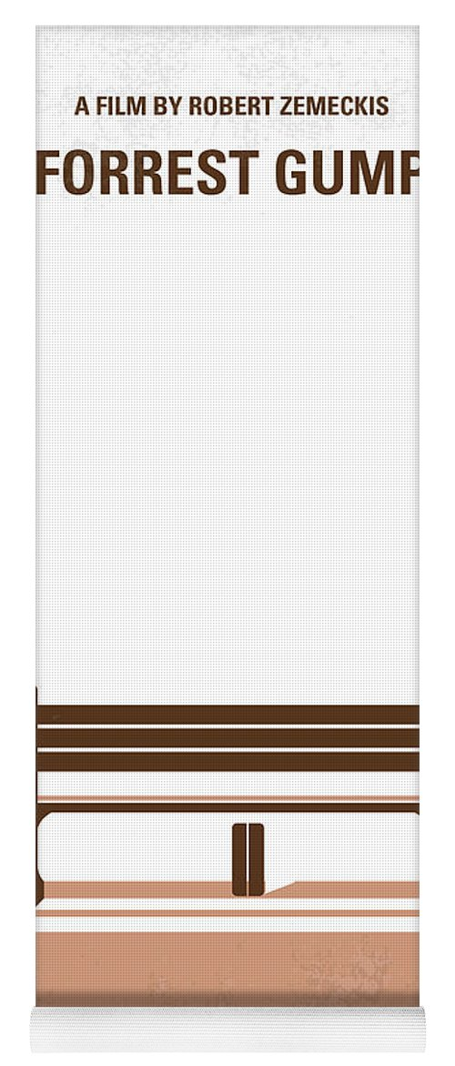 Forrest Yoga Mat featuring the digital art No193 My Forrest Gump minimal movie poster by Chungkong Art