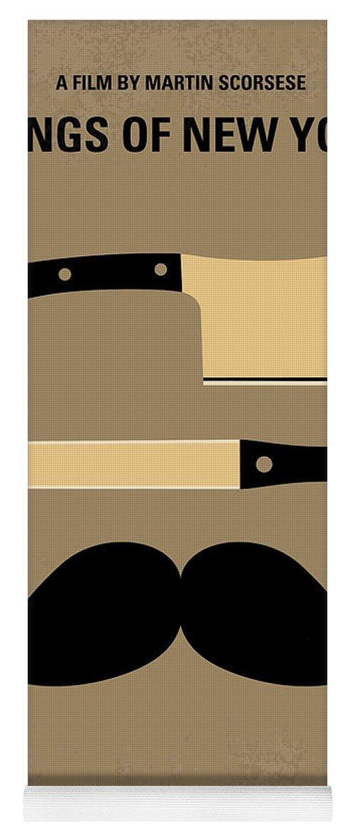 Gangs Yoga Mat featuring the digital art No195 My Gangs Of New York Minimal Movie Poster by Chungkong Art