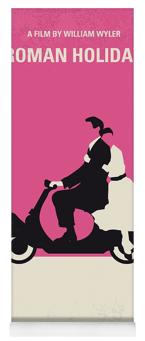 Roman Yoga Mat featuring the digital art No205 My Roman Holiday Minimal Movie Poster by Chungkong Art