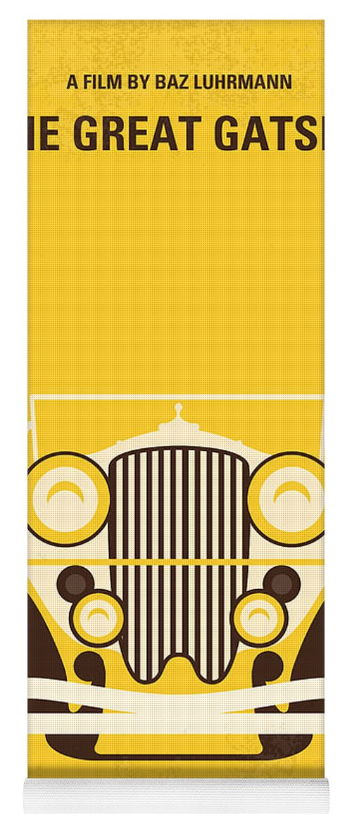 The Yoga Mat featuring the digital art No206 My The Great Gatsby Minimal Movie Poster by Chungkong Art