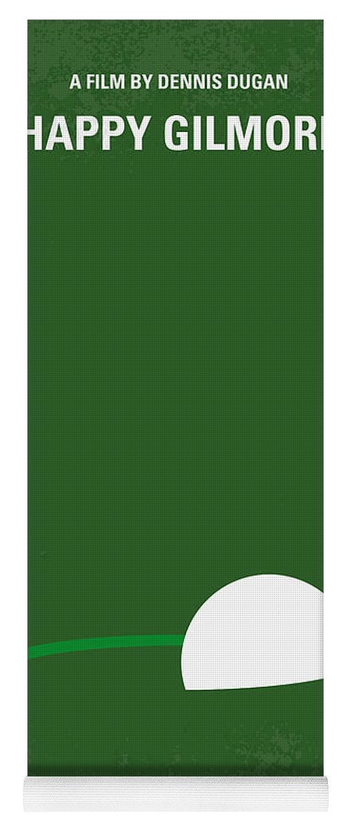 Happy Yoga Mat featuring the digital art No256 My Happy Gilmore Minimal Movie Poster by Chungkong Art
