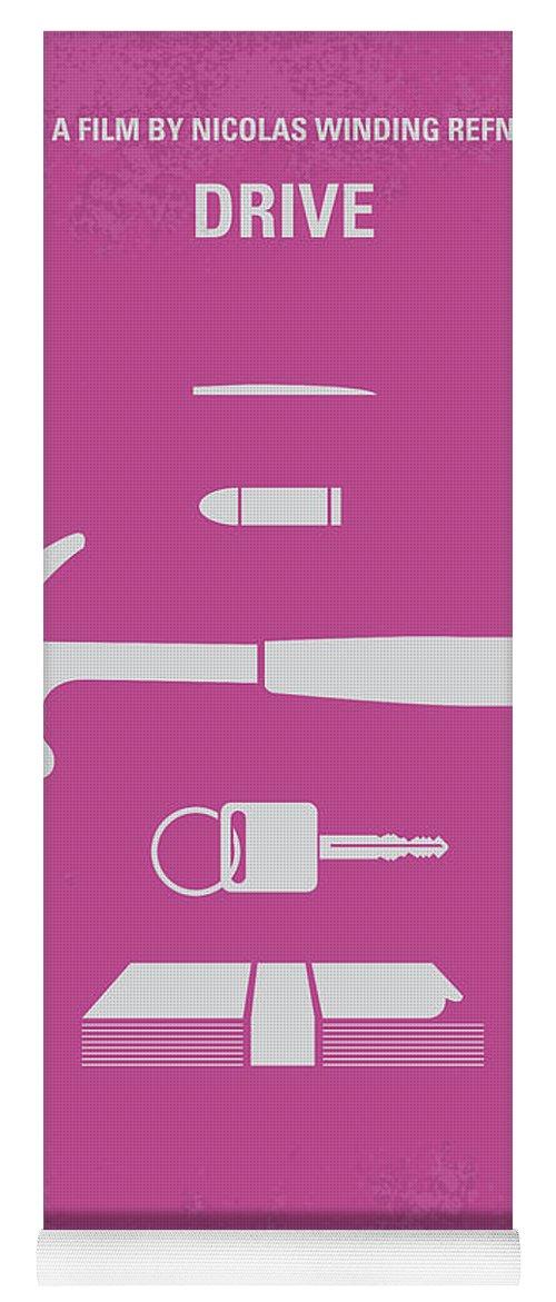 Drive Yoga Mat featuring the digital art No258 My Drive Minimal Movie Poster by Chungkong Art