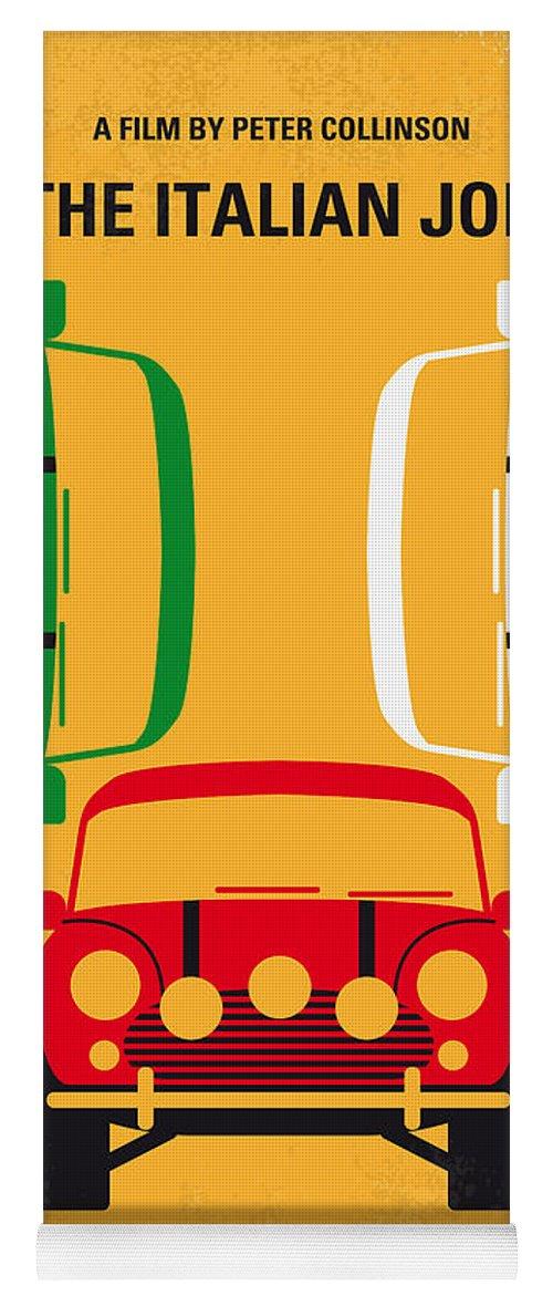 The Yoga Mat featuring the digital art No279 My The Italian Job Minimal Movie Poster by Chungkong Art
