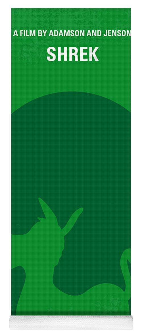 Shrek Yoga Mat featuring the digital art No280 My Shrek Minimal Movie Poster by Chungkong Art