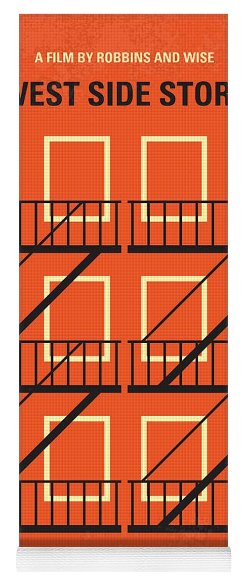 West Yoga Mat featuring the digital art No387 My West Side Story Minimal Movie Poster by Chungkong Art
