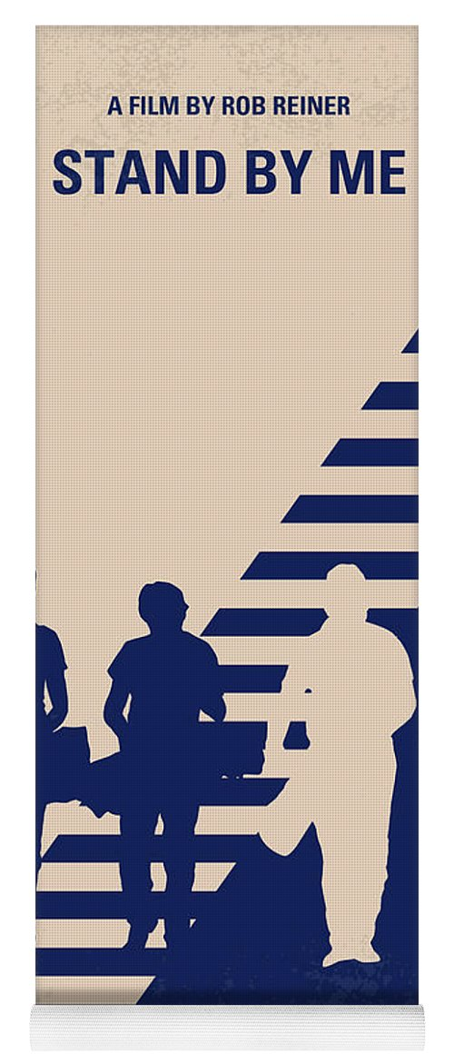 Stand Yoga Mat featuring the digital art No429 My Stand By Me Minimal Movie Poster by Chungkong Art