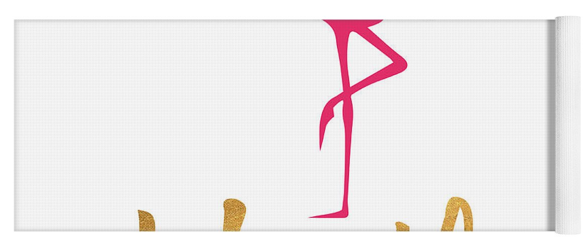 Office Yoga Mat featuring the mixed media Office Pop I by South Social Studio