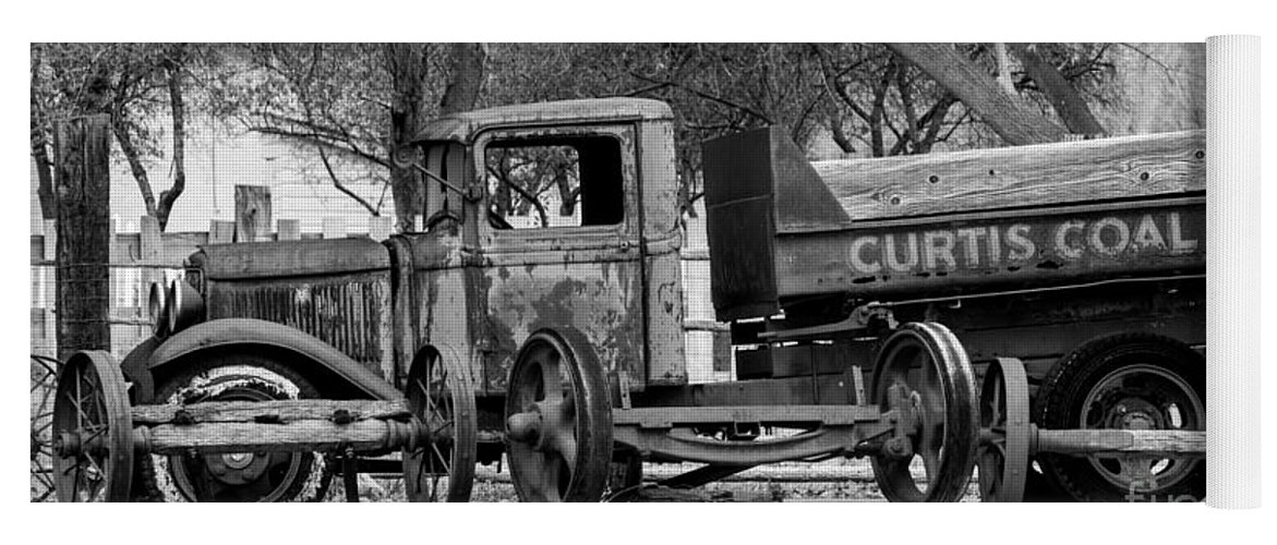Old Rusty Coal Delivery Truck Yoga Mat for Sale by Gary Whitton