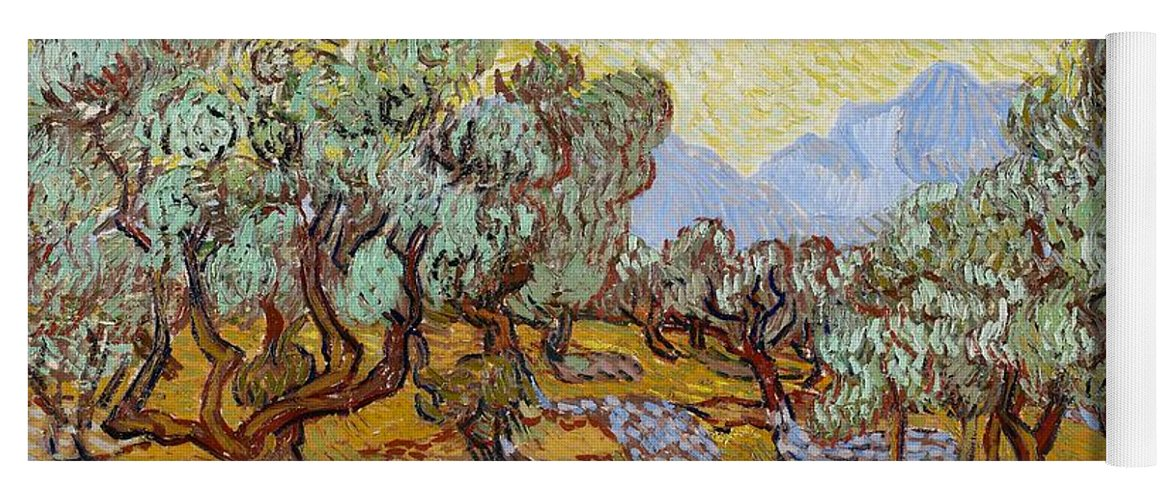 Van Yoga Mat featuring the painting Olive Trees by Vincent Van Gogh