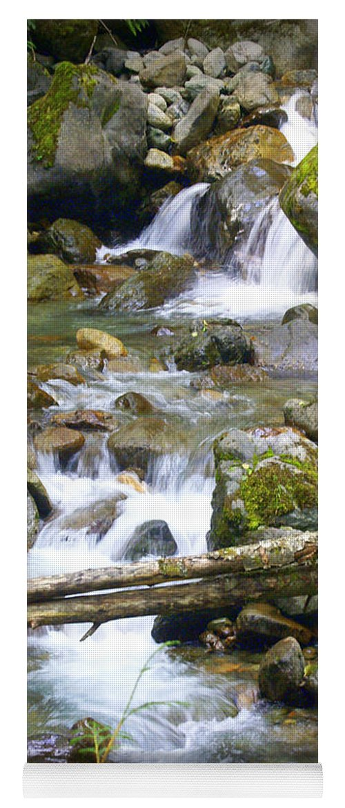 Olympic Mountains Yoga Mat featuring the photograph Olympic Range Stream by Marty Koch