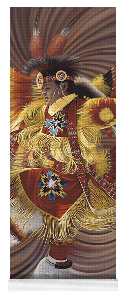 Sacred Yoga Mat featuring the painting On Sacred Ground Series 4 by Ricardo Chavez-Mendez