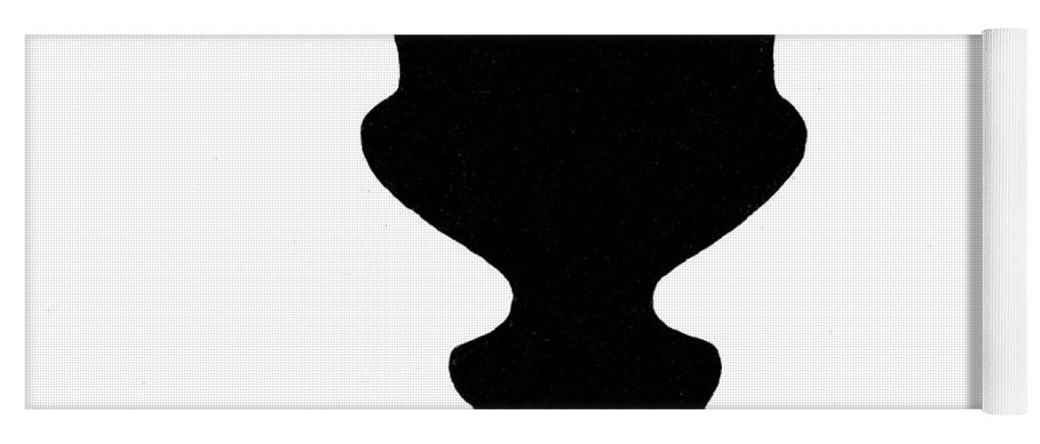 Optical Illusion Rubins Vase 1915 Yoga Mat For Sale By Science Source
