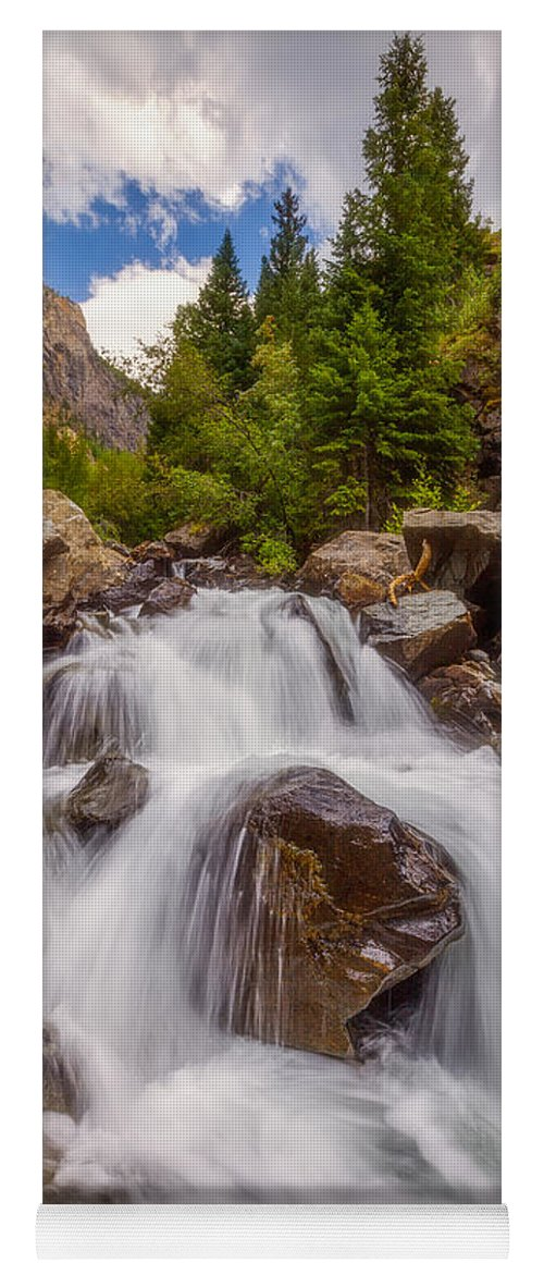 Waterfall Yoga Mat featuring the photograph Ouray Wilderness by Darren White
