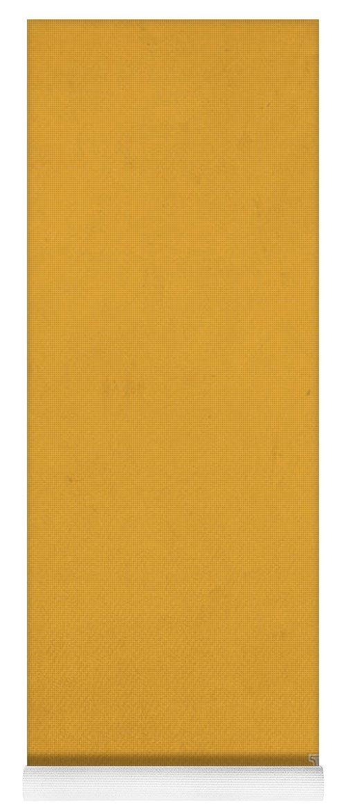 Pantone 143 Mustard Yellow Color On Worn Canvas Yoga Mat