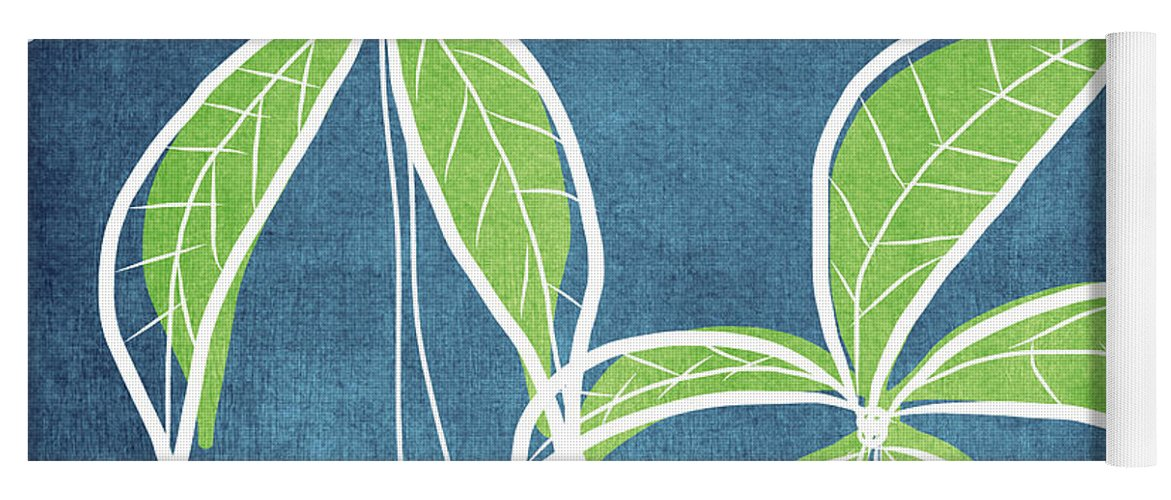 Palm Trees Yoga Mat featuring the painting Paradise Palm Trees by Linda Woods