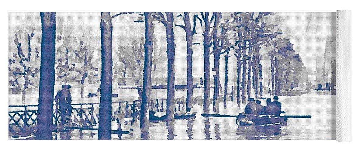 paris 1910 great flood of paris yoga mat for sale by helge
