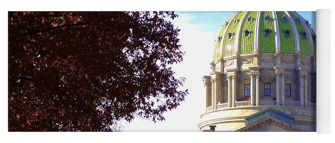 Joseph Skompski Yoga Mat featuring the photograph Pennsylvania State Capitol by Joseph Skompski