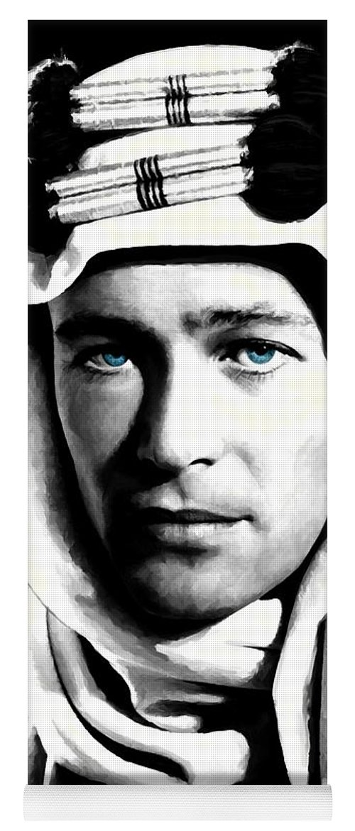 Peter O'toole Yoga Mat featuring the digital art Peter O'Toole Portrait by Gabriel T Toro