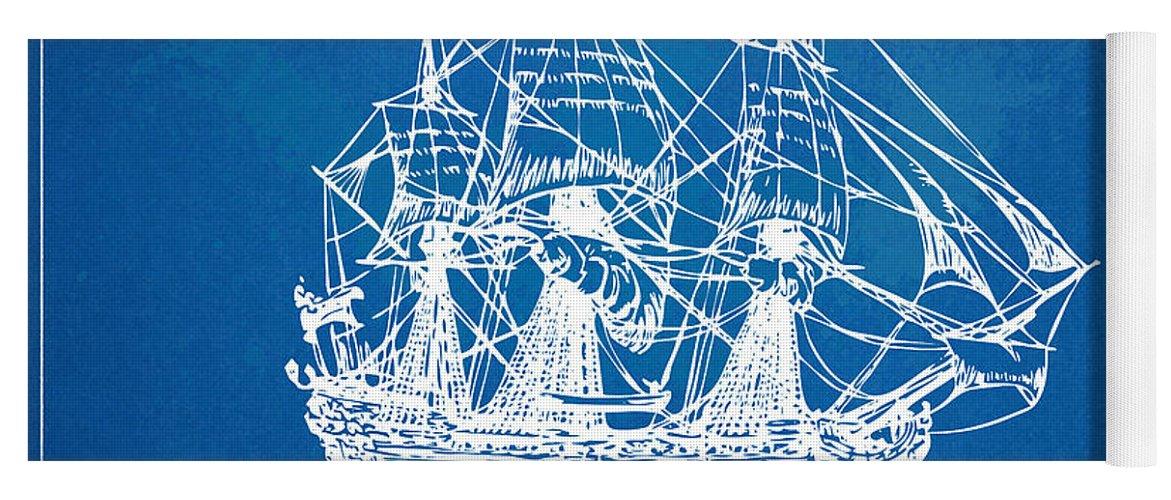 Pirate ship blueprint artwork yoga mat for sale by nikki marie smith pirate ship yoga mat featuring the digital art pirate ship blueprint artwork by nikki marie smith malvernweather Images