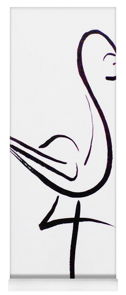 Abstract Yoga Mat featuring the drawing Poise by Micah Guenther