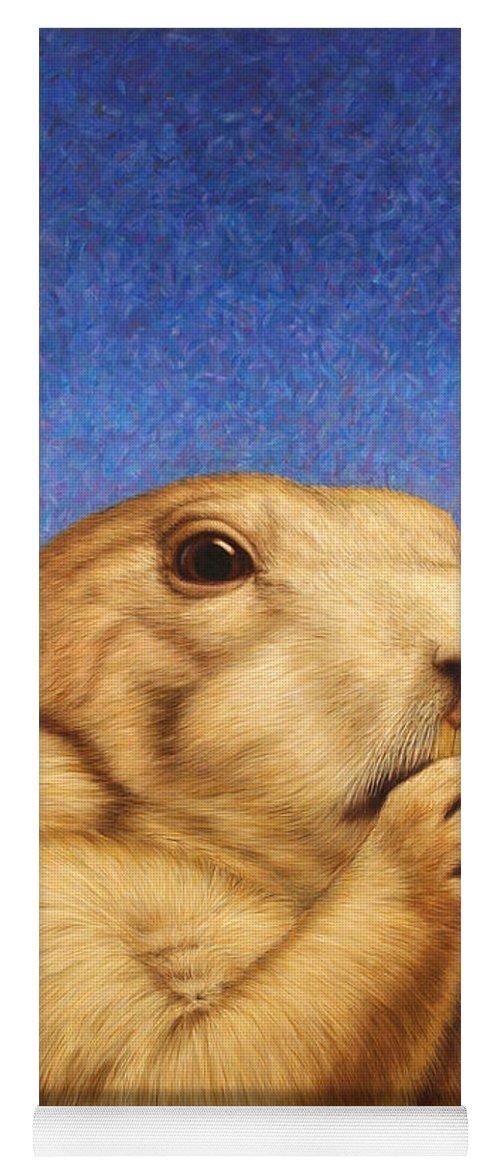 Prairie Dog Yoga Mat featuring the painting Prairie Dog by James W Johnson