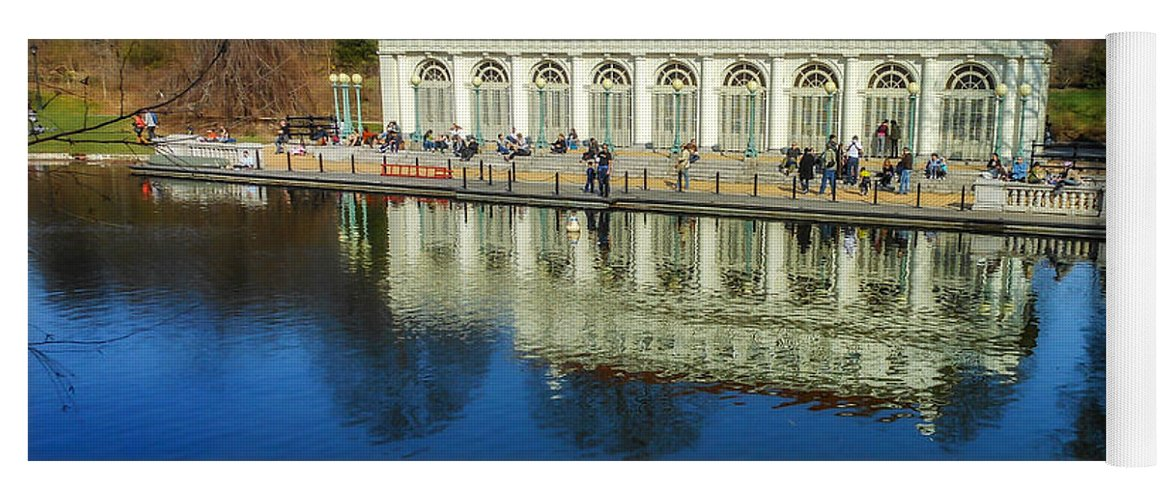 Nyc Yoga Mat featuring the photograph Prospect Park Boathouse by Jon Woodhams