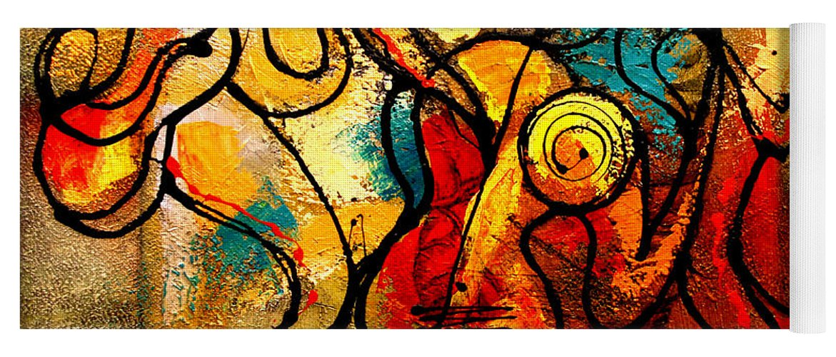 Yoga Mat featuring the painting Ragtime by Leon Zernitsky