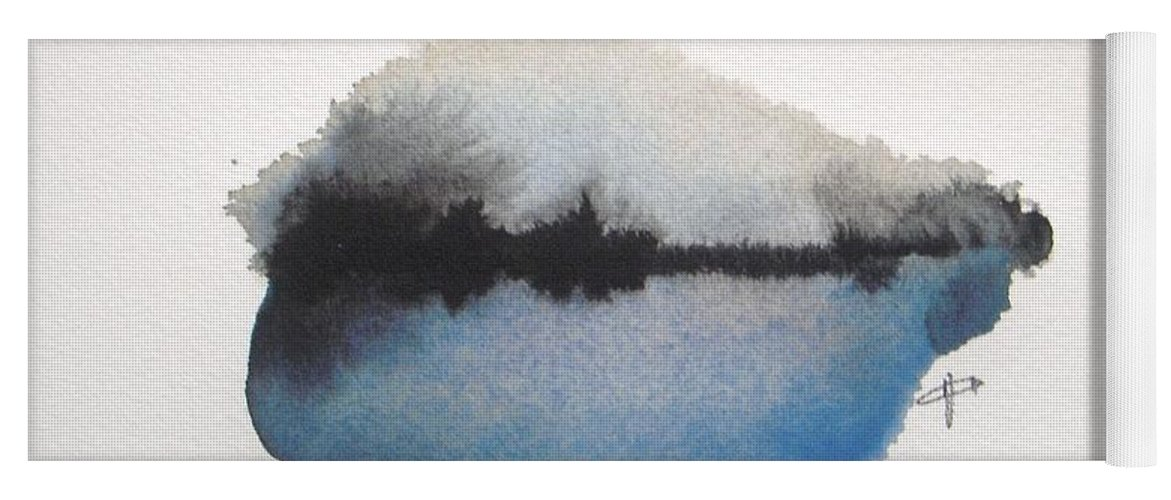 Abstract Yoga Mat featuring the painting Reflection in the lake by Vesna Antic